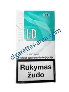 LD Super Slims Menthol cigarettes