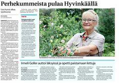 MLL:n Uudenmaan piiri etsii uusia perhekummeja Hyvinkäälle. Juttu Aamupostissa 13.8.2014.