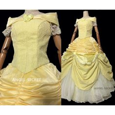 P106 COSPLAY beauty and beast princess belle Costume tailor made puffy version Item specifics Condition: New with tags: A brand-new, unused, and unworn item (including handmade items) in the original packaging (such as the original box or bag) and/or with the original tags attached. Brand: N/A Sleeve Style:Long SleeveSize Type:Regular Pattern:N/ASize (Women's):L Color: Yellow Material:Polyester Style:Ball GownOccasion:Formal Country of Manufacture:ChinaDress…