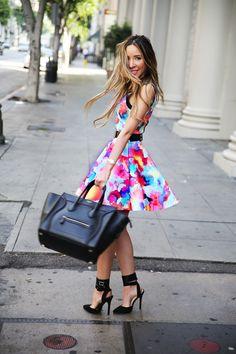 dress + shoes + bag. amazing!