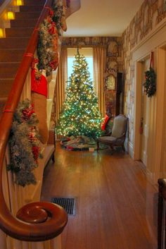 Christmas at The White Columns Historic Home, Kennebunkport Maine