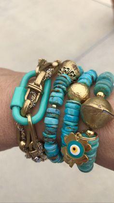 Fashion Bracelets, Jewelry Bracelets, Jewelery, Fashion Jewelry, Bohemian Style Jewelry, Boho, Handmade Bracelets, Earrings Handmade, Turquoise Jewelry
