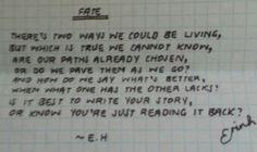 Fate - E.H. - Erin Hanson, poetry
