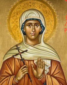 Santa Valeria, dettaglio, 30X50 cm, Chiesa di S. Andrea, Barletta (BA)