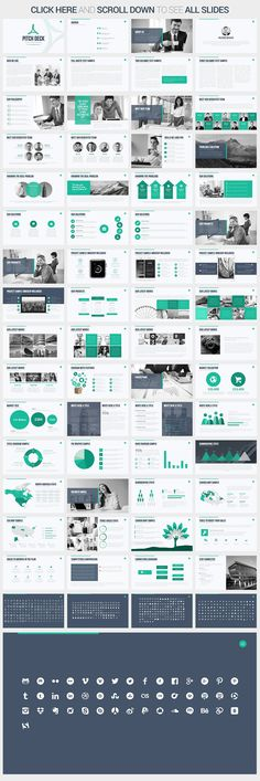 There are a lot of successful companies and workers who are quite sloppy at pitch deck presentations. Build a high-quality professional presentation with Pitch Deck Keynote Template. Pitch Presentation, Presentation Design, Presentation Templates, Design Sites, Web Design, Professional Powerpoint Templates, Business Powerpoint Templates, Powerpoint Designs, Logo Template