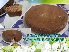 BOLO DE IOGURTE COM MEL E GENGIBRE