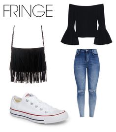 """""""Fringe Outfit"""" by merielgrace ❤ liked on Polyvore featuring Alexis and Converse"""