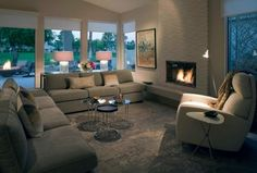 Living Rooms - contemporary - living room - los angeles - Mark Nichols Modern Interiors