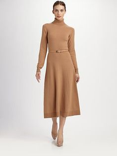 Michael Kors  Stretch Cashmere Turtleneck Dress