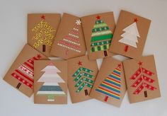 Christmas cards with their hands