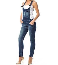 Skinny+Leg+Denim+Overall+Jean+Jumpsuit