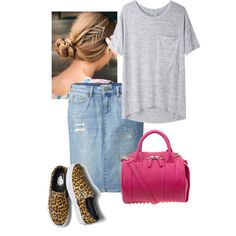 A fashion look from September 2014 featuring rag & bone/JEAN t-shirts, Uniqlo skirts and Vans sneakers. Browse and shop related looks.