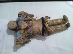 Native American beadwork and leather doll, circa 1900