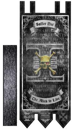 40k lifesize banner Death Watch tournament by Strangeinkstains
