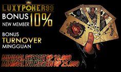 Luxypoker99 Memiliki Sebuah Sistem Terbaik Unggulan pada Situs Poker Online adalah Minimal Deposit 10000 , Dengan adanya Poker Online Deposit 10rb.