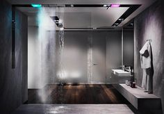 Gessi is the design manufacturer of luxury bath and kitchen faucets, showers system and electronically operated taps. Luxury Shower, Luxury Bath, Modern Bathroom Design, Bathroom Interior Design, Kitchen Design, Bathroom Spa, Small Bathroom, Italian Bathroom, Ceiling Installation