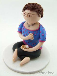 Tortenfigur/ Erinnerungsfigur Frau mit Baby