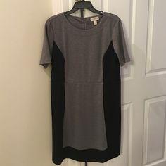 Grey and black color block Loft dress Grey and black color block Loft dress. In perfect condition never even worn. Just no tags LOFT Dresses