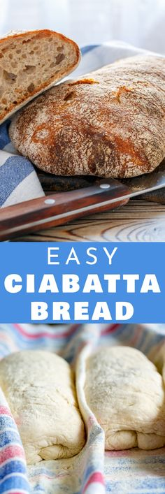 Ciabatta Bread Recipe This Homemade Bread Is Crusty And Filled With Holes It's Easy To Make In The Bread Machine. Serve It For Sandwich, Soup Or A Dinner Side Dish Pain Ciabatta, Ciabatta Bread Recipe, Crusty Bread Recipe Quick, Quick Bread, Sandwiches, Naan, Easy Bread Recipes, Cooking Recipes, Recipes For Bread Machine