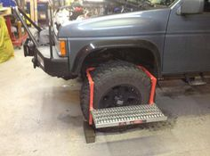 """ This step is perfect for what I need. I use it on my lifted 4X4 that has over size tires. The step gets me where I need to be to work under the hood. I have two of these; a smaller one that I keep in the back of the rig and this one I keep handy in the shop. "" -ShepherdAP from Washington State"