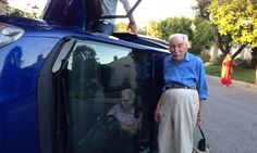 Couple married for 60 years flip over their car and pose up for photos