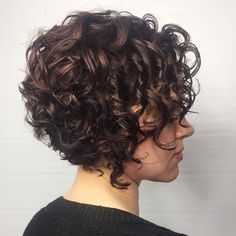 60 Styles and Cuts for Naturally Curly Hair HairStyles short curly hair Bob Haircut Curly, Haircuts For Curly Hair, Curly Hair Cuts, Curly Hair Styles, Short Hair Curly Styles, Naturally Curly Haircuts, Short Curls, Short Wavy Hair, Curly Short Bobs
