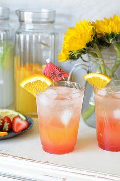DIY Sparkling Cocktail Bar - Canadian Sunrise // bethcakes.com