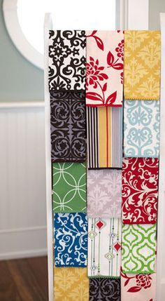 So, not ceiling storage. But hang it sideways on the wall, hang vintage linens and blankets from it! Guest Towels, Hand Towels, Dish Towels, Textiles, Textile Patterns, Ceiling Storage, Hen House, Modern Prints, Cool Patterns