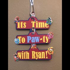 A personal favorite from my Etsy shop https://www.etsy.com/listing/588943079/paw-patrol-birthday-door-sign-paw-patrol