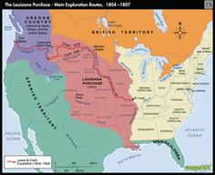 Louisiana Purchase, Main Exploration Rts 1804 Map – The little thins – Event planning, Personal celebration, Hosting occasions Teaching Us History, Teaching American History, Social Studies For Kids, Teaching Social Studies, Lewis And Clark Route, Oregon Country, Middle School History, History Essay, Louisiana History