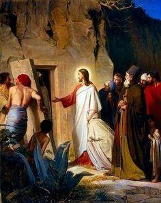 La resurrección de Lázaro. 1870 Carl Heinrich Bloch