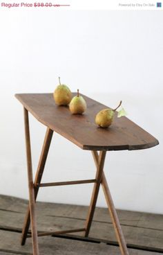 Small Ironing Board / Vintage Wood Ironing Board by 86home on Etsy