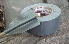 There's a million uses for duct tape. We love the idea of making survival arrow spines. | 13 Everyday Items For Survival #survivallife www.survivallife.com