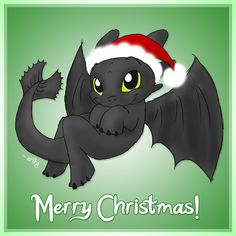 Merry Christmas from Toothless by bloom27472.deviantart.com on @deviantART