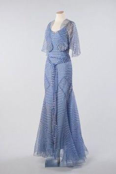 Silk organza evening dress and cape, c.1935 Photograph John Chase~