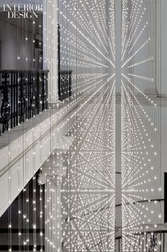 11,000 LEDs mounted on double-sided circuit boards encourage visitors to take the stairs. #lighting
