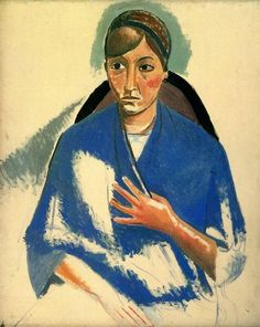 The portrait of woman, Andre Derain Medium: oil,canvas Andre Derain, Paul Cezanne, Henri Matisse, Raoul Dufy, Amedeo Modigliani, Pablo Picasso, Art Fauvisme, Maurice De Vlaminck, Art Optical