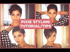 How to style growing out PIXIE/ SHORT HAIR STYLING TUTORIAL - YouTube