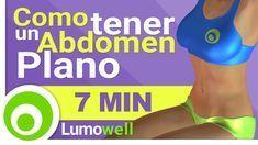 Rutina de abdominales para tener un vientre plano en casa, 7 Minutos de ejercicios diarios para aplanar el abdomen y reducir la cintura. Calorías Quemadas:...