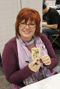 Comic Book Writer Gail Simone, best known for her run on the Pre-52 Birds of Prey. She immortalized a paraplegic Barbara Gordon into The Oracle, and gave us some of the most relatable female superheroes that we know and love today.