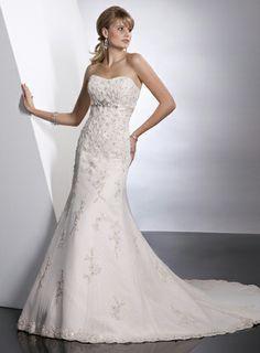 Pretty trumpet / mermaid empire waist tulle wedding dress  Read More:    http://www.wholesale-lucky.com/index.php?r=pretty-trumpet-mermaid-empire-waist-tulle-wedding-dress.html