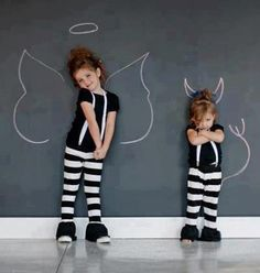 Angel and devil! So cute ♥