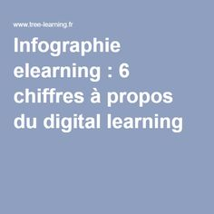 Infographie elearning : 6 chiffres à propos du digital learning