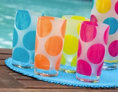 Set of 4 - Polka Dots Frosted Glass Tumblers Gifted Living http://www.amazon.com/dp/B004Q20HMY/ref=cm_sw_r_pi_dp_mXcStb1QNR3EG65A