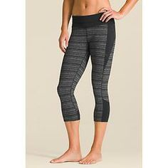 Connect Capri - Were putting the fun back into practice with this spliced capri tight that has striping details plus all the stretchy, wicking performance you need on the mat.