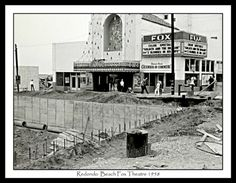 This is the old Fox Redondo movie theater, a goliath of a building that graced the waterfront at King Harbor, photographed by Robi Hutas in 1958. In conjunction with their current show, Hutas and John Post will talk about their work from 12 noon to 2 p.m. on Saturday at 608 North art gallery, 608 N. Francisca Ave., Redondo Beach. (310) 376-5777.