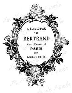 Advertising vintage romantic paris france flower by JLeeloo2, $1.00