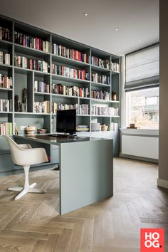 Stock Dutch Design - Office - Interior design by Stock Dutch Design - Photography by Peter Baas Home Office Design, Home Office Decor, Design Offices, Office Table, Bureau New York, Layout Design, Book Design, Apartment Therapy, Green Interior Design