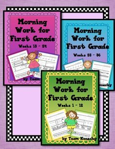 First Grade - This bundle contains ALL 3 of the individual morning work packets. You get 36 weeks at a savings! $