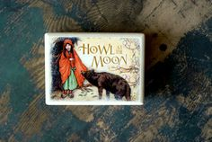 Howl At The Moon Wood Box  Organizer  Jewelry box   Gift by Mmim, $12.00